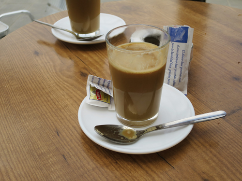 café con leche ....because there is something about these strong little coffee in a glass
