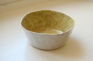 Schale / weiss + gelb-grün / 13 x 5.5cm / 35.- Fr.