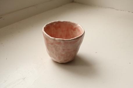 Becher / rosa-weiss / 6 x 6cm / 25.-Fr.